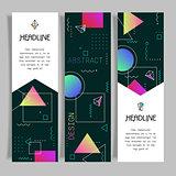 Abstract vector polygonal design banners templates