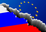 Flag Russia Europe Deep Crack