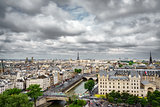 Paris from Notre Dame Cathedral church
