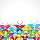 Colorful butterfly background