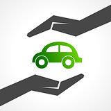 save eco car concept