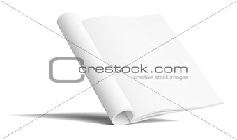 Blank Paper Brochure With Shadows