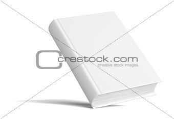 Blank Book With Shadows. Mock Up Template