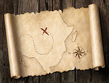 treasure map 3d illustration