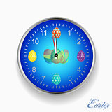 Easter celebrative clock with eggs