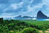 View of the Bay of Phang Nga