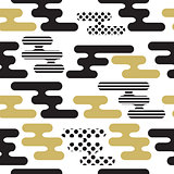Abstract Seamless Striped Pattern Vector Illustration