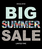 Big Summer Sale Abstract Background Vector Illustration