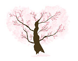 Abstract Floral Sakura Flower Japanese Tree Natural Background V