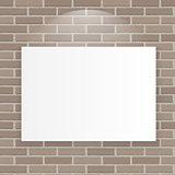White Frame on Brick Wall Vector Illustration Background