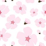 Abstract Floral Sakura Flower Japanese Natural Seamless Pattern