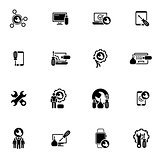 Repair Service and Maintenance Icons Set.