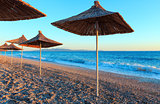 Summer sunset beach (Albania).
