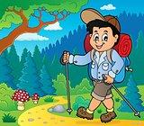 Boy hiking outdoor image 1