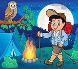 Boy hiking outdoor image 2