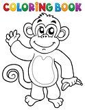 Coloring book monkey theme 3