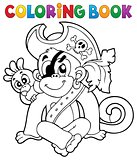 Coloring book pirate monkey image 1