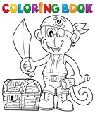 Coloring book pirate monkey image 2