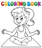 Coloring book yoga girl