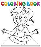 Coloring book yoga girl