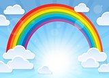 Rainbow and stylized clouds theme 1