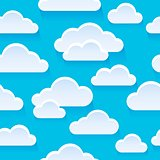 Stylized clouds seamless background 1