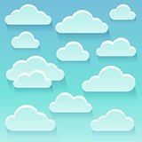 Stylized clouds theme image 6