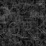 font roler seamless black 01