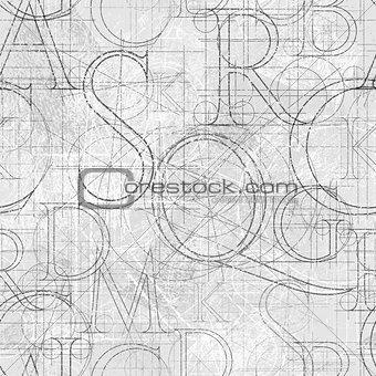 font roler seamless color