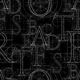 font seamless black