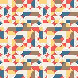 Abstract geometric retro seamless pattern
