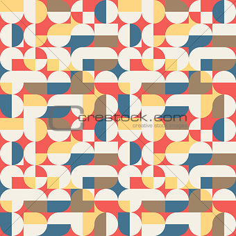 Abstract geometric retro seamless pattern