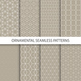 Collection of retro ornamental patterns.