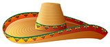 Sombrero Mexican Straw Hat with wide margins