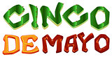 Cinco de Mayo. Lettering text for greeting card