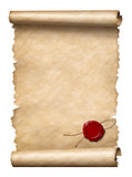 scroll with wax seal