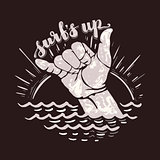 surf hand sign