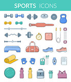 Sports equipment collection.