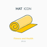 Mat icon isolated on white.