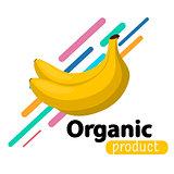 Banana simple background.