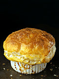 rustic golden english meat pot pie with flaky crust