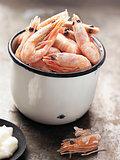 rustic english pub grub pint of prawns