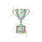 Abstract trophy cup