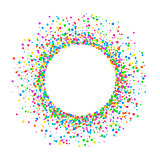 Round colored confetti