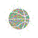 Abstract basketball Icon