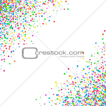 Abstract pattern confetti