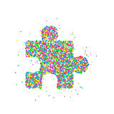 Puzzle icon Abstract
