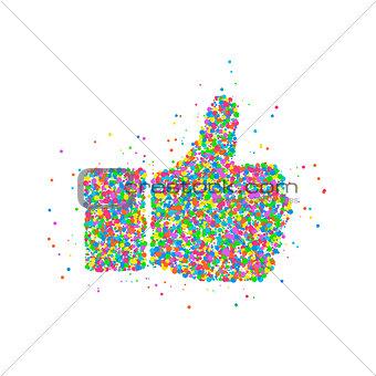 Abstract thumb up icon