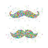 Retro mustache Icon.