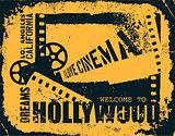 Template grunge cinema poster.